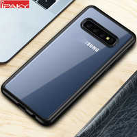 Für Samsung S10 Fall IPAKY S10e Fall Transparent Auswirkungen Beständig TPU + PC Hybrid Stoßfest für Samsung Galaxy S10 Plus fall