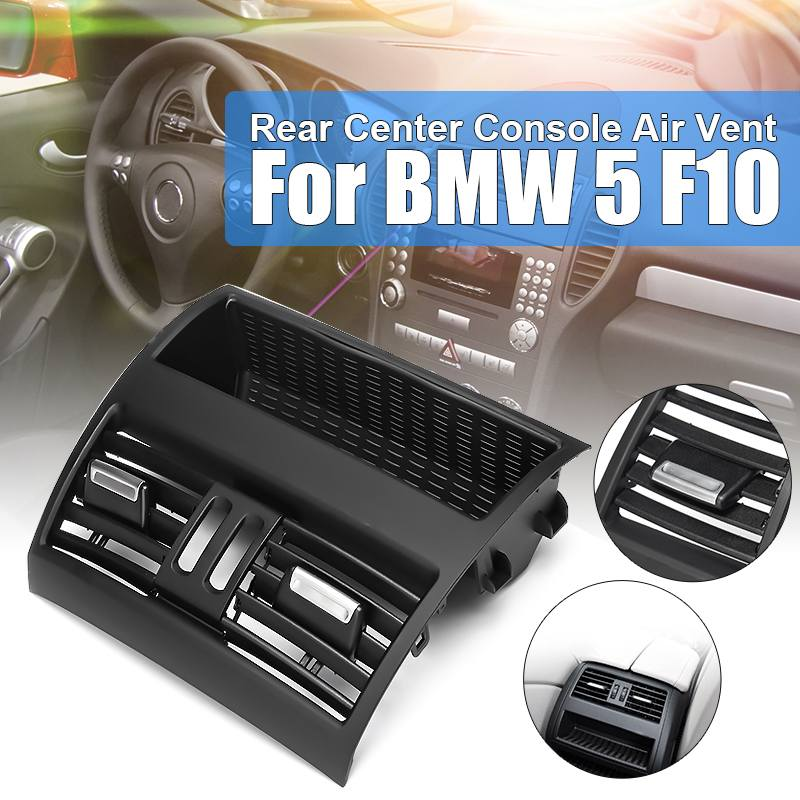 New Rear Center Console Fresh Air Outlet Vent Grille Cover For BMW 5 <font><b>F10</b></font> F18 <font><b>520d</b></font> 523i 525i 525d 528i 530i 530d 535i 2010-2016 image