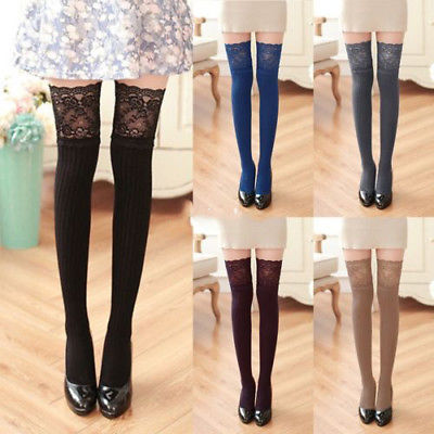 2019 New Girls Ladies Women Thigh Over Knee Long Casual Ladies Thigh High Plain Cotton Overknee Socks