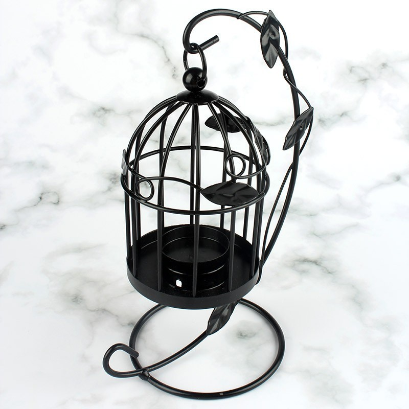 Desktop Birdcage Candlestick Home Decoration Table Ornaments Yankee Candle Holders Stand Creative Candlelight Dinner Candelabra