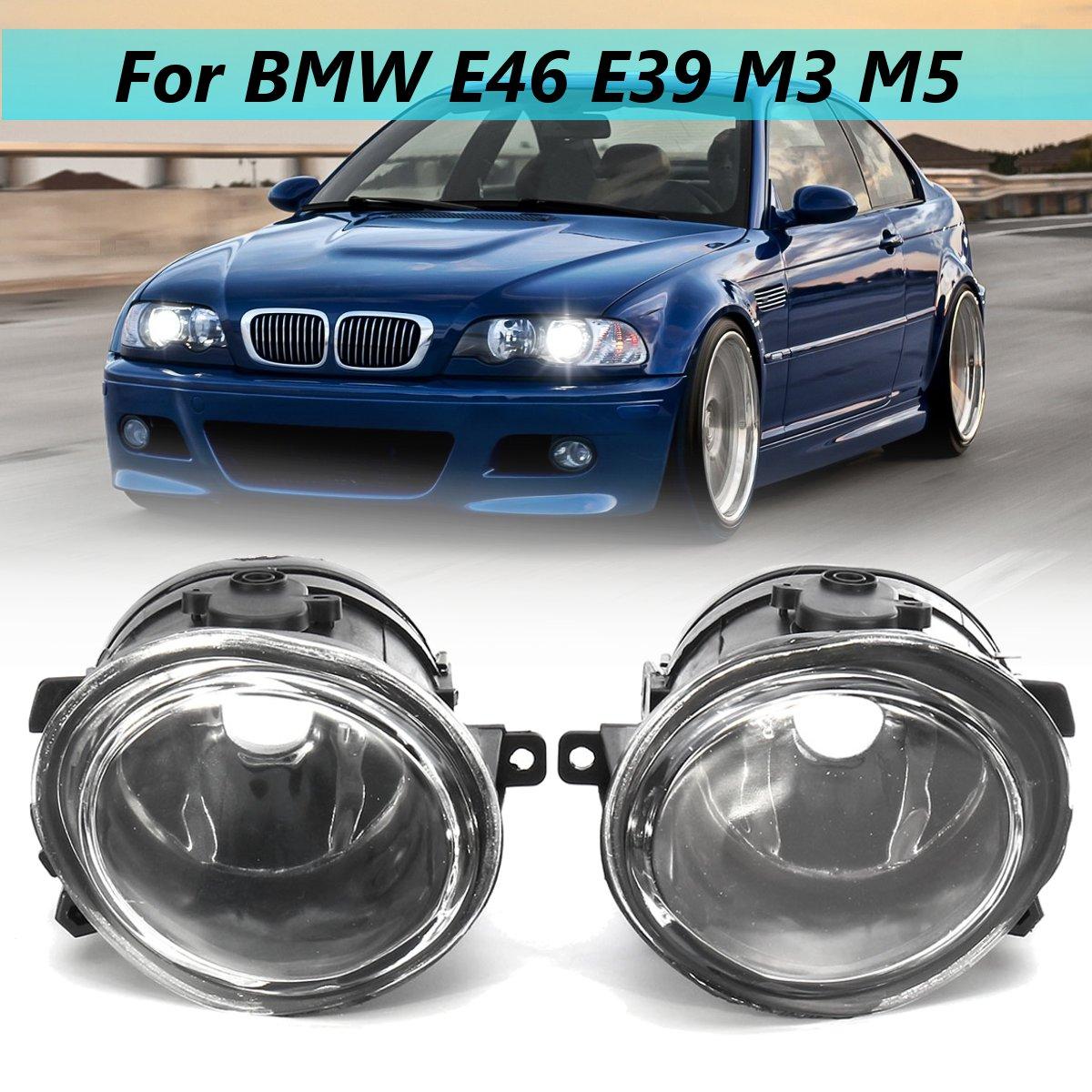 12 V Paire D'antibrouillard Clair Lumières Logement Couvercle Transparent Pour BMW Série 3 E46 Série 5 E39 M3 M5 1998 1999 2000 2001 2002 2003 2004