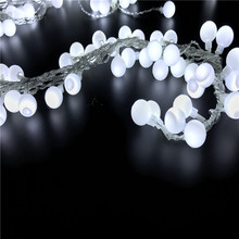 Connectable 10M led String Lights with 50led Cherry Balls Fairy String Decorative Lights Wedding Christmas Outdoor Patio Garland 10m 20m 30m 100 200 300 led cherry balls fairy string decorative lights 110v 220v plug wedding christmas garland patio decor