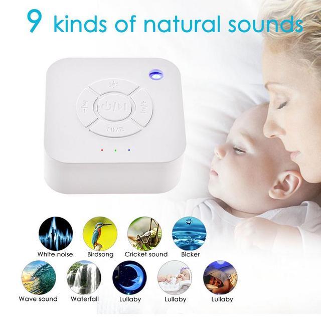 Белая шумо-машинка, перезаряжаемая по USB, с таймером, звуковая машина для сна, релаксации для детей, взрослых, офисная, для путешествий