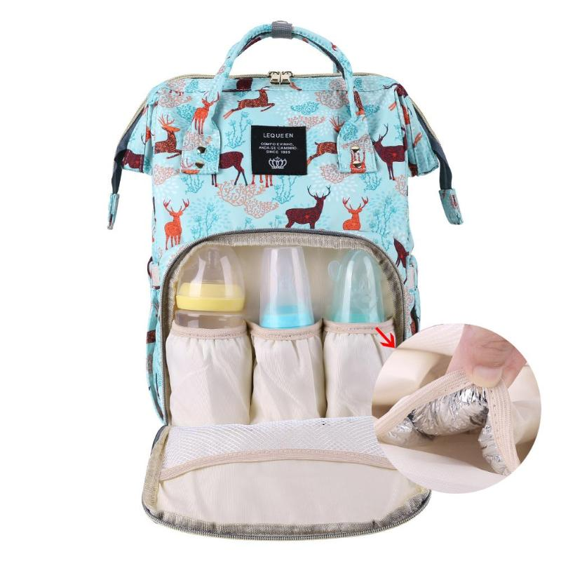 Cartoon Deer Mummy Diaper Bag Large Capacity Maternity Nappy Bags Baby Travel Nursing Care Backpacks Mother Shopping Handbags