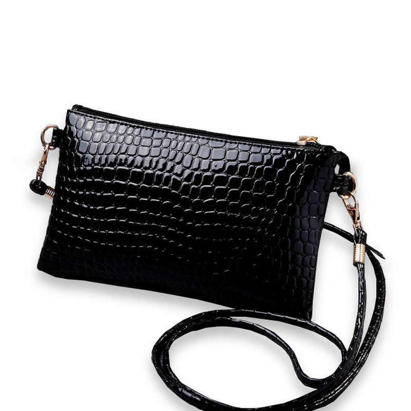 7a68550b4e0f1 Kobiet dorywczo Mini torba PU skóra krokodyla wzór Crossbody torba na ramię  portmonetka sprzęgła torebki i