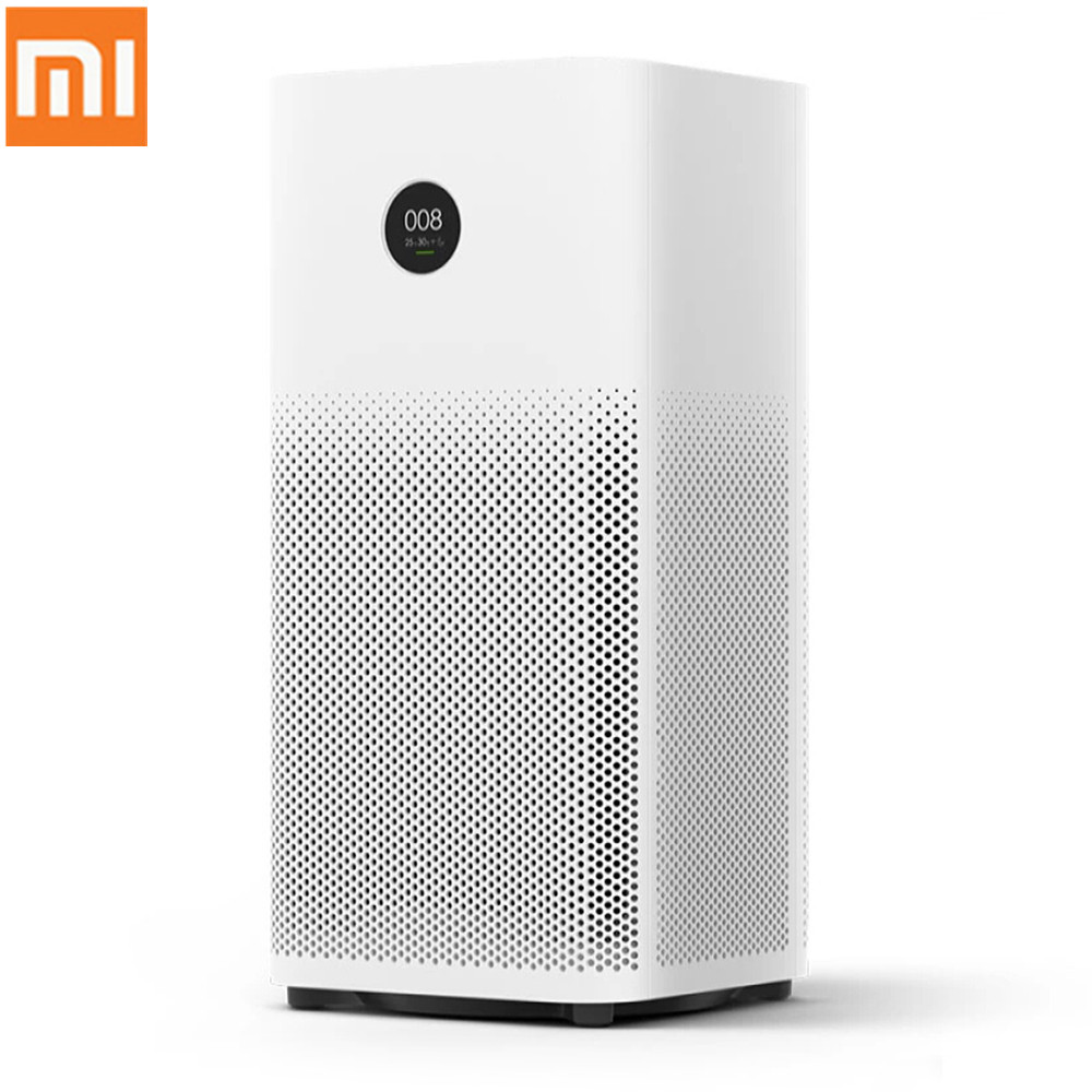 все цены на Original Xiaomi Smart Air Purifier 2S OLED Display Smartphone Mi Home APP Control Smoke Dust Peculiar Smell Cleaner 100-240V онлайн