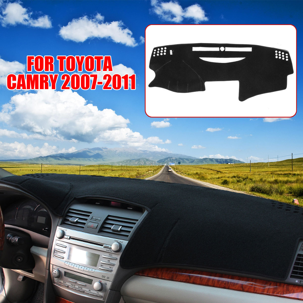 For Toyota Camry 2007 2008 2009 2010 2011 Dashboard Cover Dashmat Dash Mat  Pad Sun Shade Dash Board Cover Car Styling-in Car Anti-dirty Pad from  Automobiles ... f57e7bb03d0