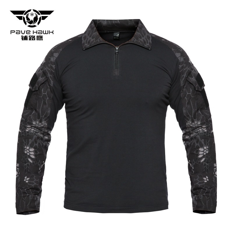 Army Fans Field Military Training Tactical Shirt Outdoor Shooting Hunting Camping Camouflage Long Sleeve Combat Uniform Tops 4XL