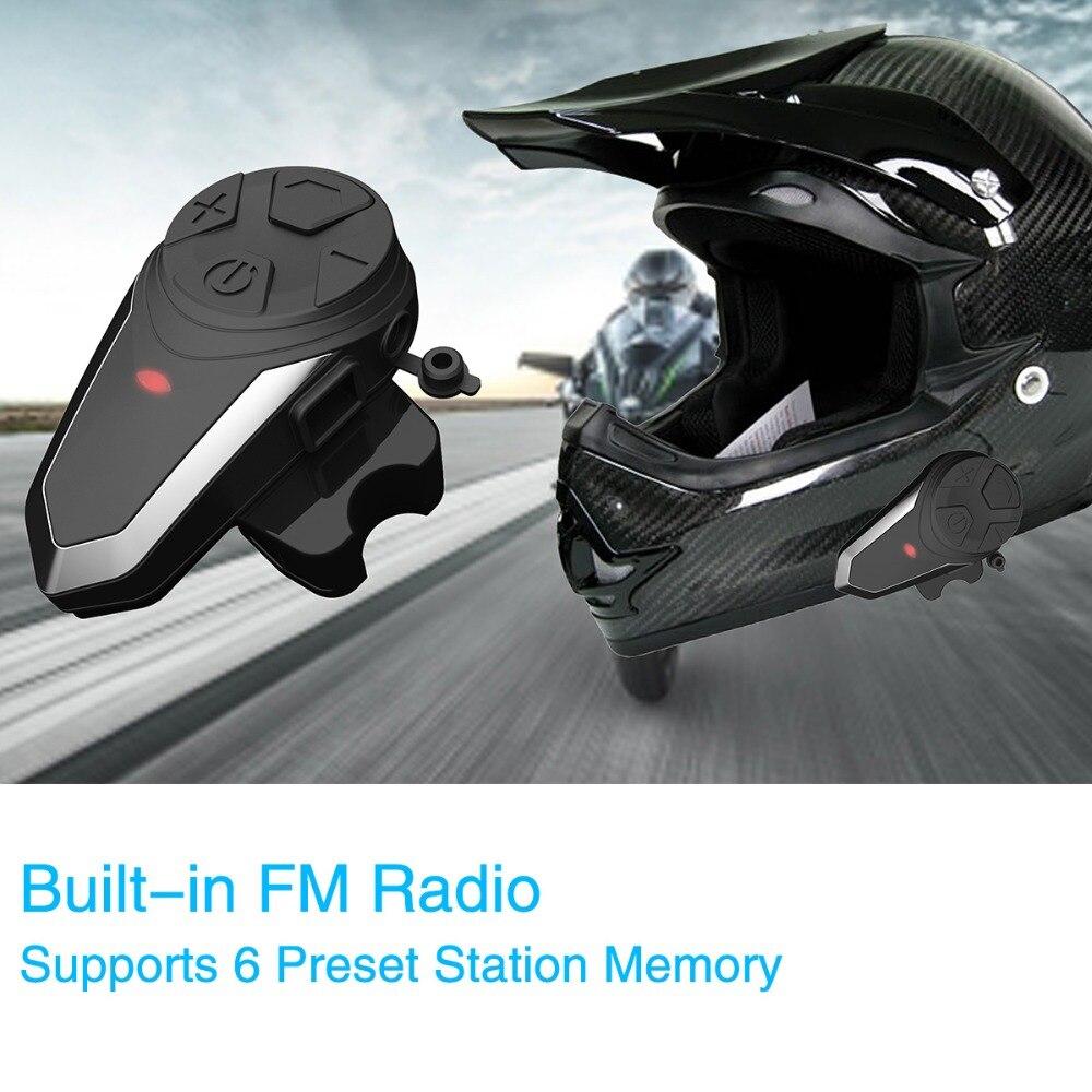 BT-S3 Motorcycle Helmet Intercom 1000M Wireless Helmet Bluetooth Headset Waterproof BT Interphone Intercomunicador Moto FM