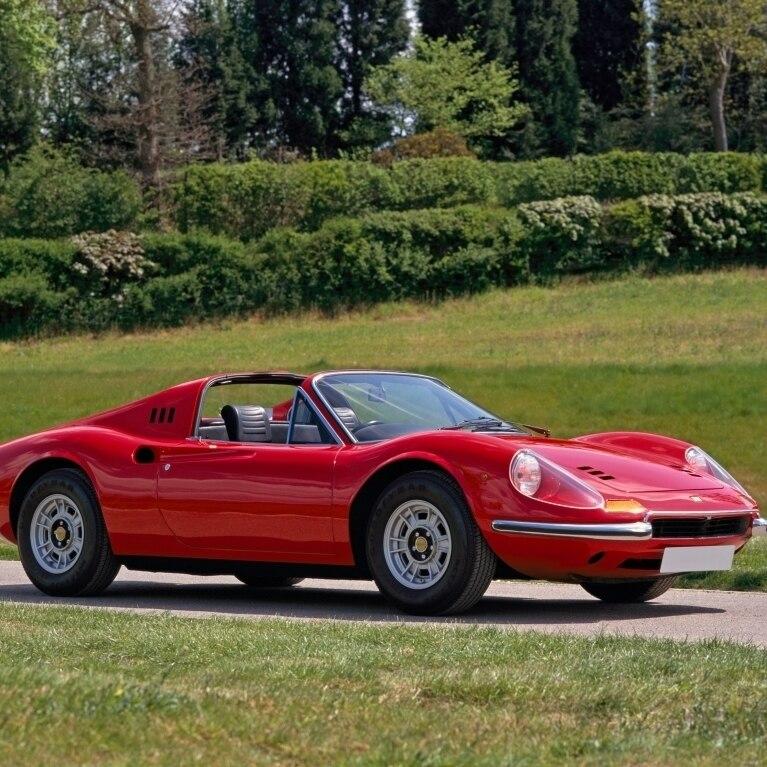 4 Seat Ferrari: 1973 Ferrari 246GTS Dino Sports 2 Seater Spyder 24 Litre V