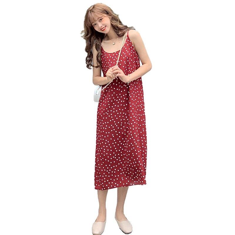 Sexy Women Dress Maxi Sleeveless Loose Long Dresses Fashion V-neck Sling