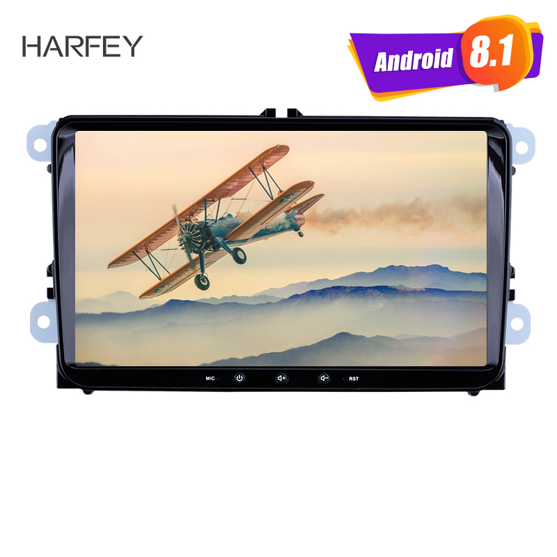 Harfey 9 Android 7.1/8.1 Universal Car Radio 2Din For VW SEAT LEON CUPRA Golf Passat b5 b6 CC Sharan Polo Skoda Magotan EOS
