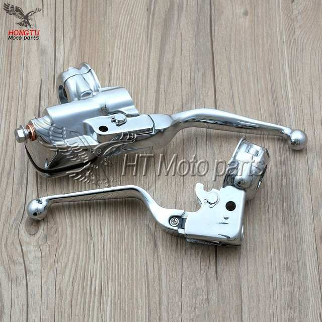 Chrome Motorcycle Clutch Lever brake pump Master Cylinder For Harley  Davidson Softail Deluxe Road King Fat boy breakout