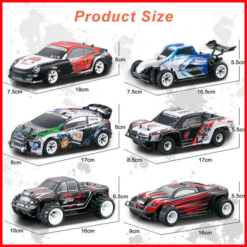 WLtoys 1:28 RTR RC Car 2.4G 4WD 4 Channles 30 KMH Drift RC Carro De Corrida Carro K969/K979 /K989/K999/P929/P939 6 Estilos Para A Seleção