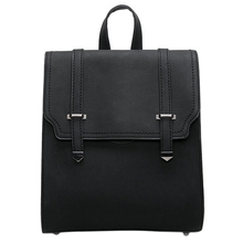 WomenS Backpack Pu Quality Fashion Girl Bag: Black