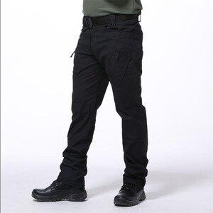 Image 2 - Multi Pocket Urban ยุทธวิธีทหารกางเกงชายกลางแจ้งปีนเขาการฝึกอบรมสวมใส่ Slim ตรงแฟนกองทัพ Cargo กางเกง