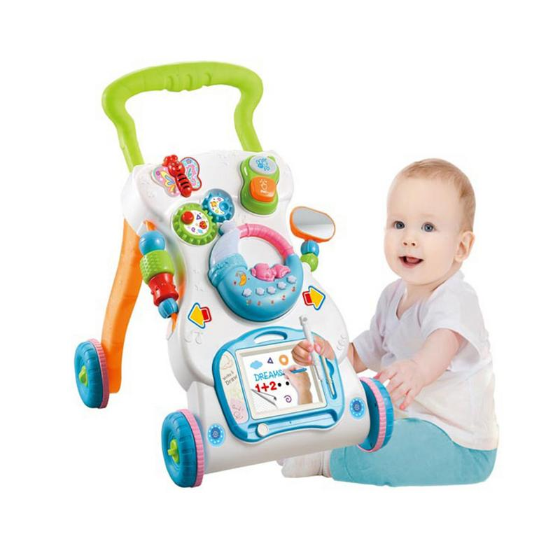 Baby Walker Music Walking Assistant Multifunctional Toddler Trolley Sit-to-Stand Walker for Kids Early Learning with AdjustableBaby Walker Music Walking Assistant Multifunctional Toddler Trolley Sit-to-Stand Walker for Kids Early Learning with Adjustable