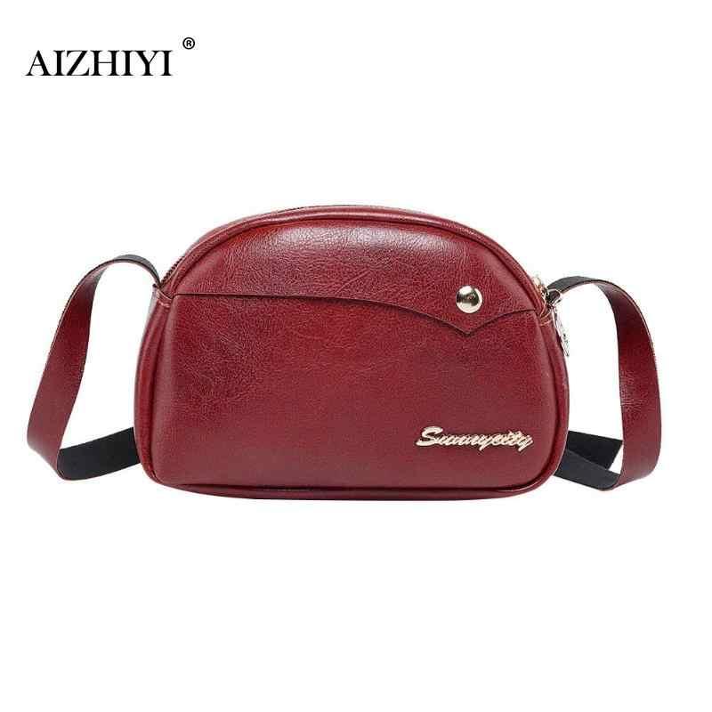 3c34c0e2a47 Women Vintage PU Leather Shell Messenger Bag Fashion Girls Casual Shoulder  Crossbody Sling Bags Handbag Bolsa