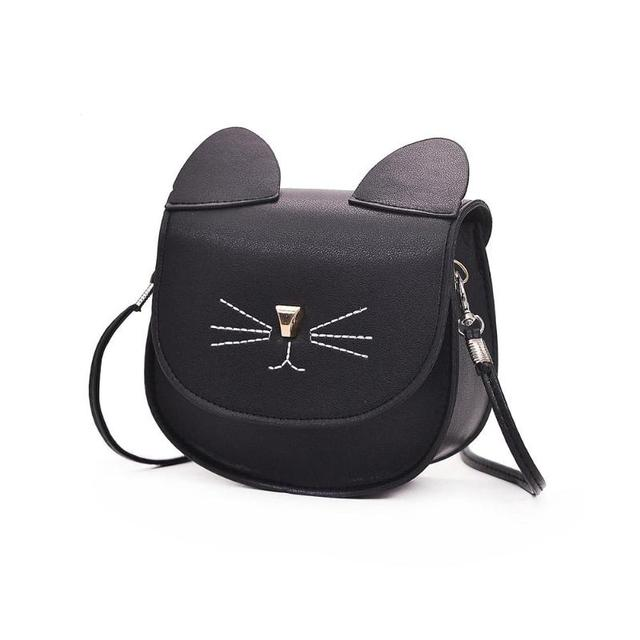 Embroidery Cat Mini Shoulder Bags for Girls Messenger Bags Princess Style  Kids Crossbody Bags for Children Purses and Handbags