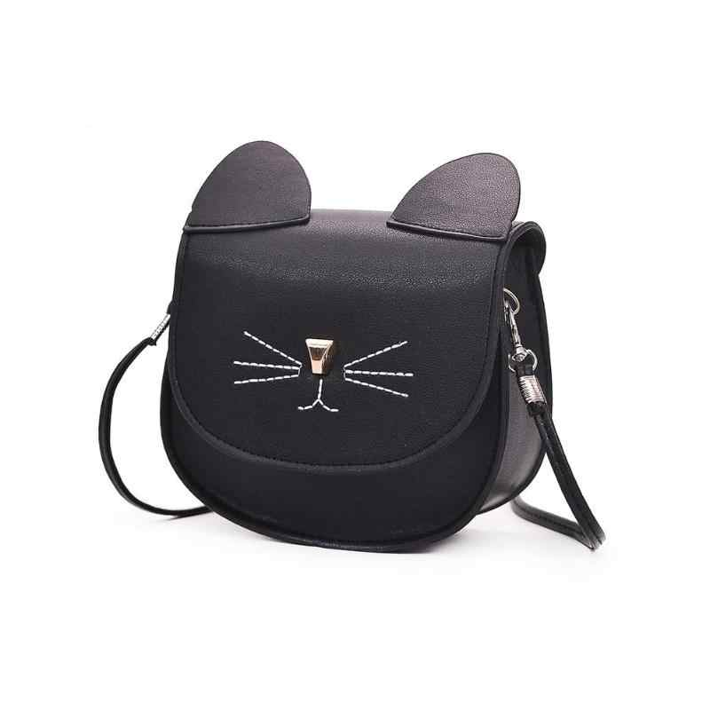 7c75124a57cf Detail Feedback Questions about Embroidery Cat Mini Shoulder Bags for Girls  Messenger Bags Princess Style Kids Crossbody Bags for Children Purses and  ...