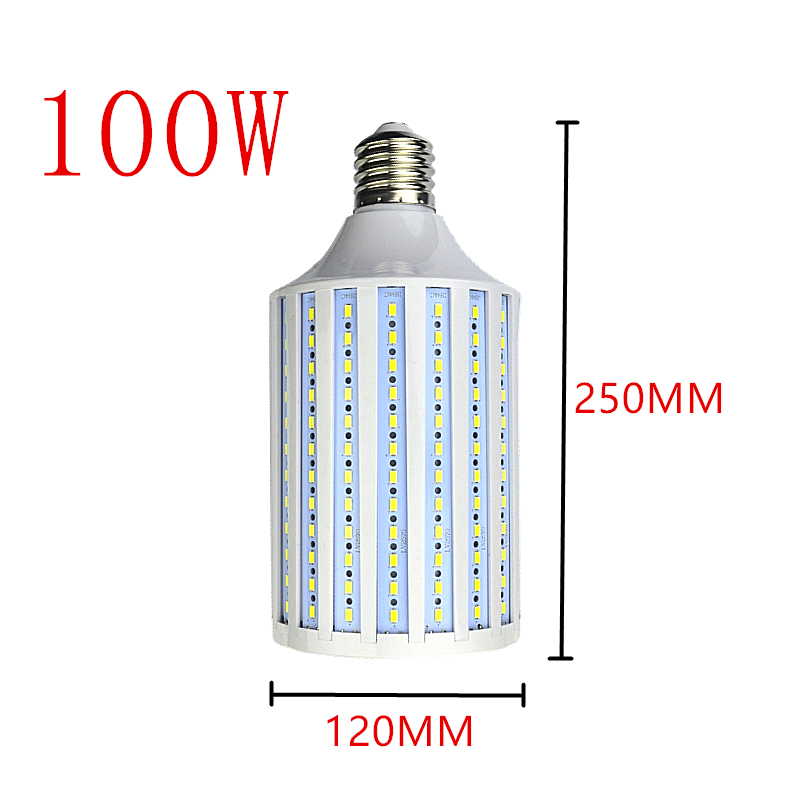 <font><b>LED</b></font> Bulb Lamp E14 B22 <font><b>E27</b></font> E26 E39 E40 5730 Corn Spot Light 25W <font><b>30W</b></font> 40W 50W 60W 80W 100W Lampada 110V 220V Cold Warm White Lights image