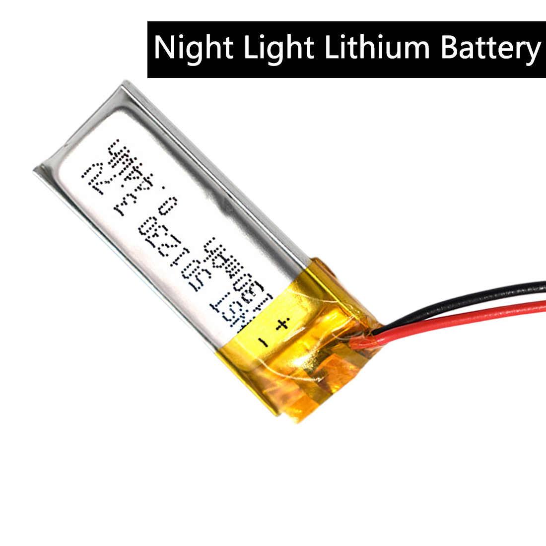 3.7V 130mAh 501230 lityum polimer LiPo li İyon şarj edilebilir pil Lipo hücreleri cep telefonu için Bluetooth kulaklık hoparlör MP3 MP4 yeni