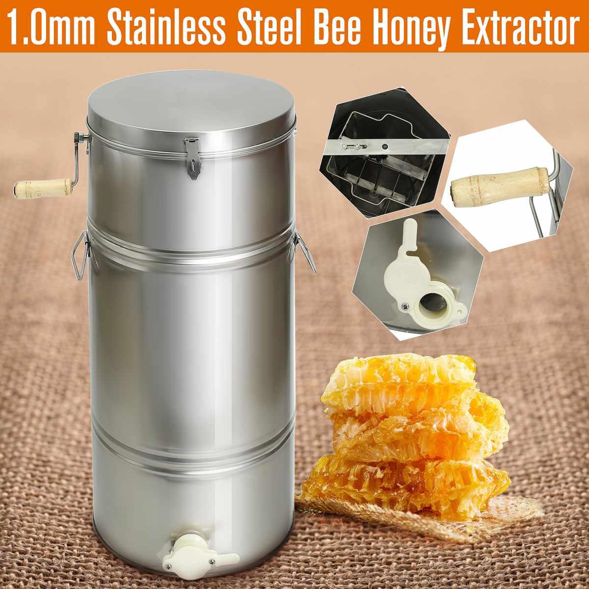 2 Frame Honey Extractor Stainless Steel Beekeeping Machine Tool Box Honey Extractor Supplies Beekeeping Equipment