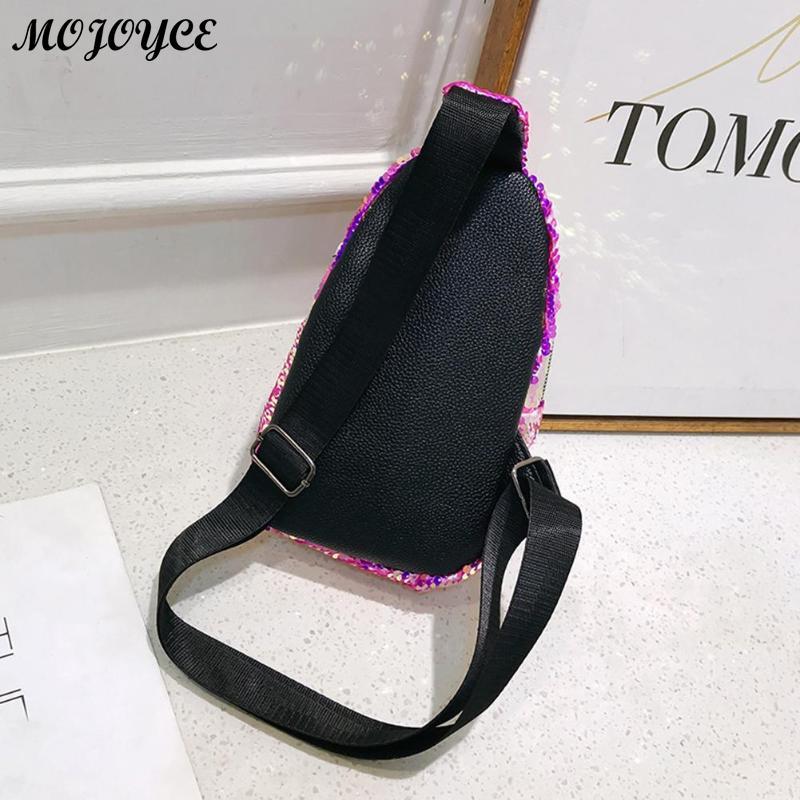 Bling Sequins Crossbody Bags Women Shoulder Messenger Shiny Chest Handbags