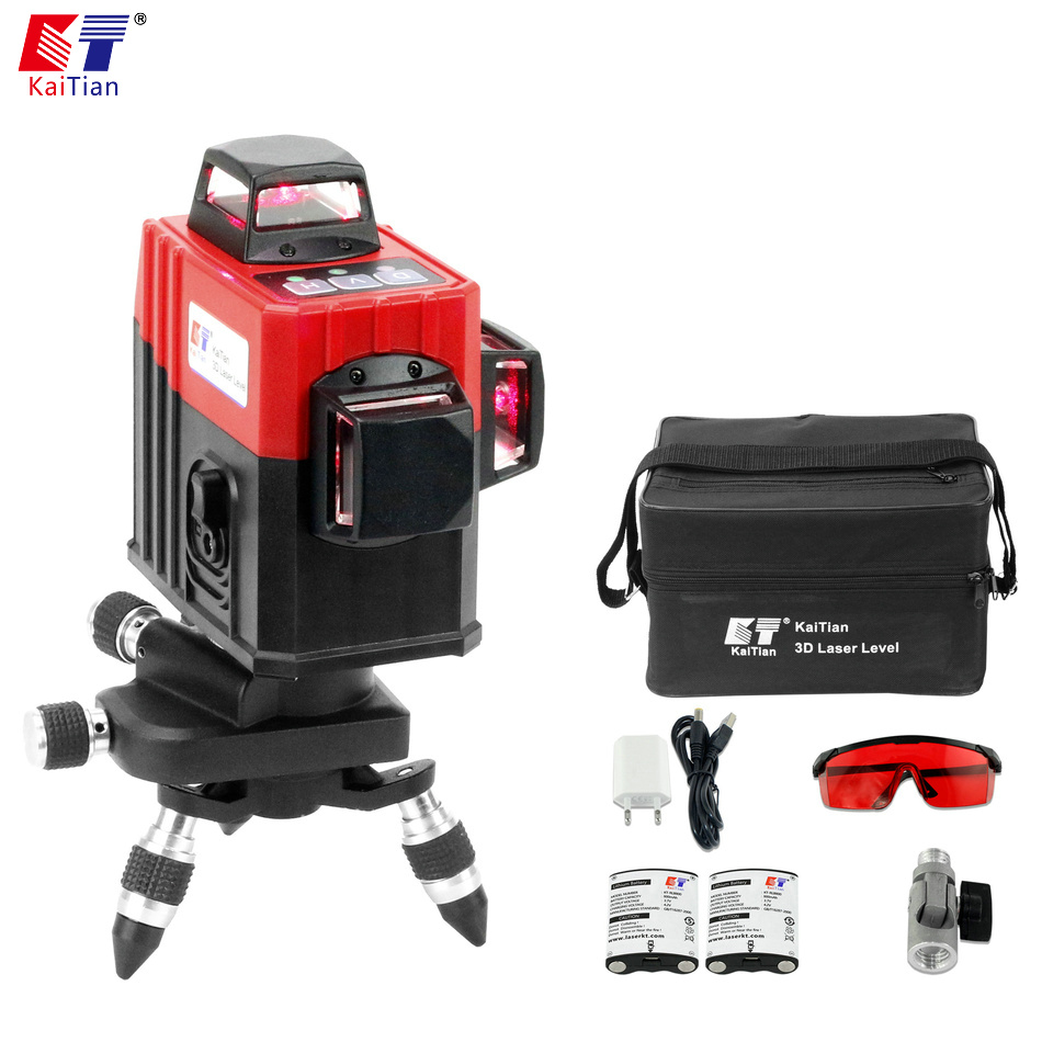 KaiTian 12Lines 3D Laser Level Self-Leveling 360 Degre Horizontal Vertical Cross Powerful Level Laser Tool With Outdoor DetectorKaiTian 12Lines 3D Laser Level Self-Leveling 360 Degre Horizontal Vertical Cross Powerful Level Laser Tool With Outdoor Detector