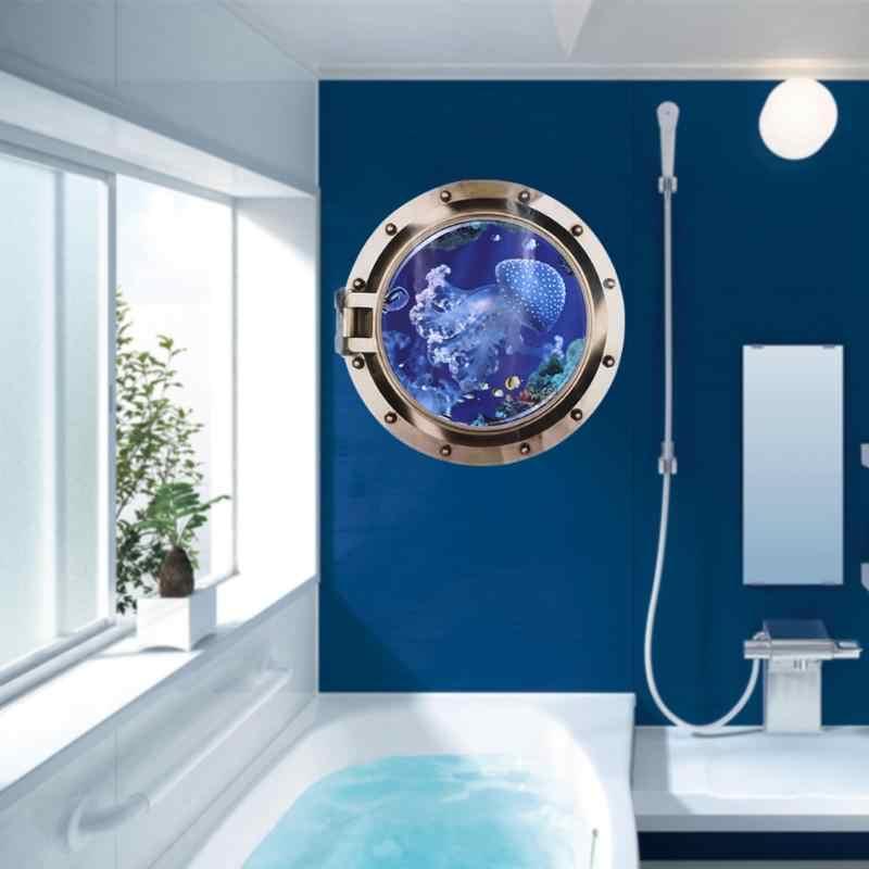 Чудесный морской мир 3D Виниловые наклейки на стену наклейки на окна декор для ванной комнаты съемные наклейки для комнаты в детском саду