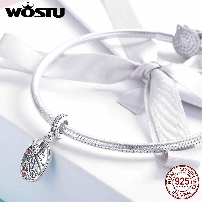 WOSTU ใหม่มาถึง 100% 925 Sterling Silver Bird Be Loved Charm Fit สร้อยข้อมือและสร้อยคอจี้ 2019 แฟชั่นเครื่องประดับของขวัญ CQC1015