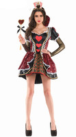 Halloween Alice in Wonderland The Red Queen costume Fairy tales cosplay carnival fancy dress Fantasy