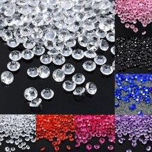 Свадебные украшения 1000 шт 4,5 мм ремесла кристалл конфетти Разбрасыватели конфетти для стола прозрачные кристаллы центральный элемент вечерние праздничные принадлежности
