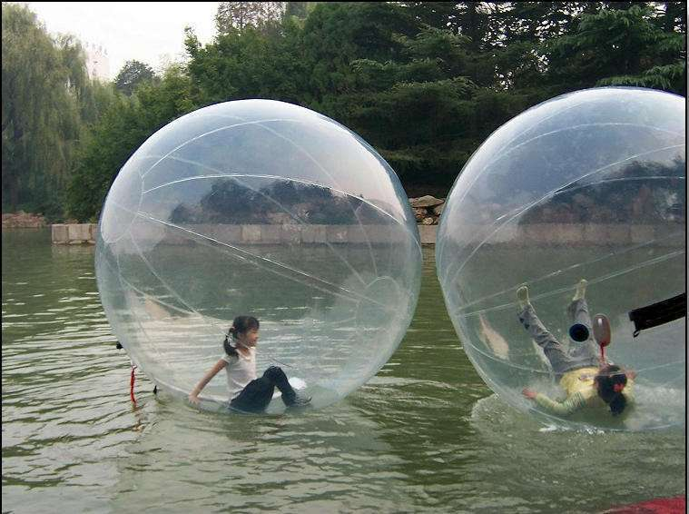 2018 Nouveau noir ballons d'eau, rouleaux de l'eau, gonflable piscine et marche de l'eau ballon Gonflable Loisirs 2 m ballet de danse balle