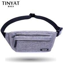 TINYAT Для мужчин мужская сумка-пояс серый Повседневное функциональный пояс сумка большая сумка на ремне Телефон поясная барсетка Фанни путешествия бедра