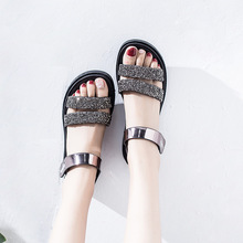 Woman Sandals 2018 Summer New Pattern Korean Version All-match Thick Bottom Magic Subsidies Leisure Time Toe Zapatos De Mujer недорого