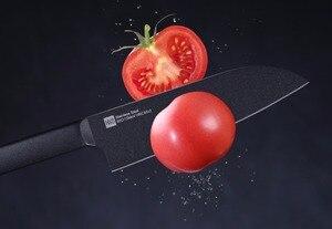 Image 5 - Huohou ensemble de couteaux de cuisine antiadhésifs en acier inoxydable, couteau de cuisine noir, Cool + couteau à trancher de 307mm + couteau de Chef de 298mm de xiaomi Youpin