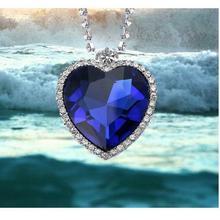 TITANIC фильм Сердце океана драгоценный камень синий CZ модное ожерелье с кристаллами