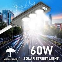 60W Solar Street LED Light PIR Motion Sensor Radar Induction Wall Road Lamp IP65 Waterproof Energy Saving Aluminum Alloy