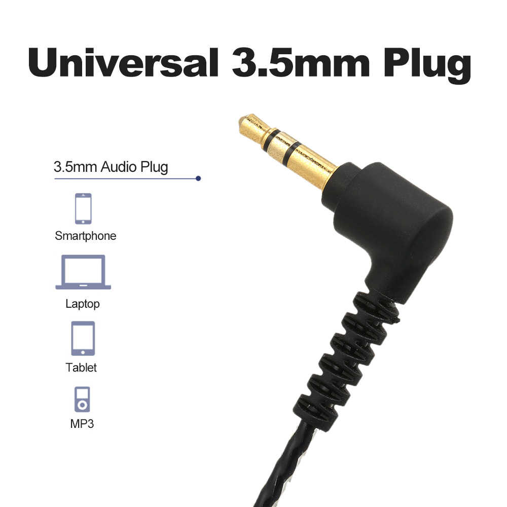 3 5mm diy wired earphones replacement cable alternative line upgraded plug in cord mmcx plug  [ 1000 x 1000 Pixel ]