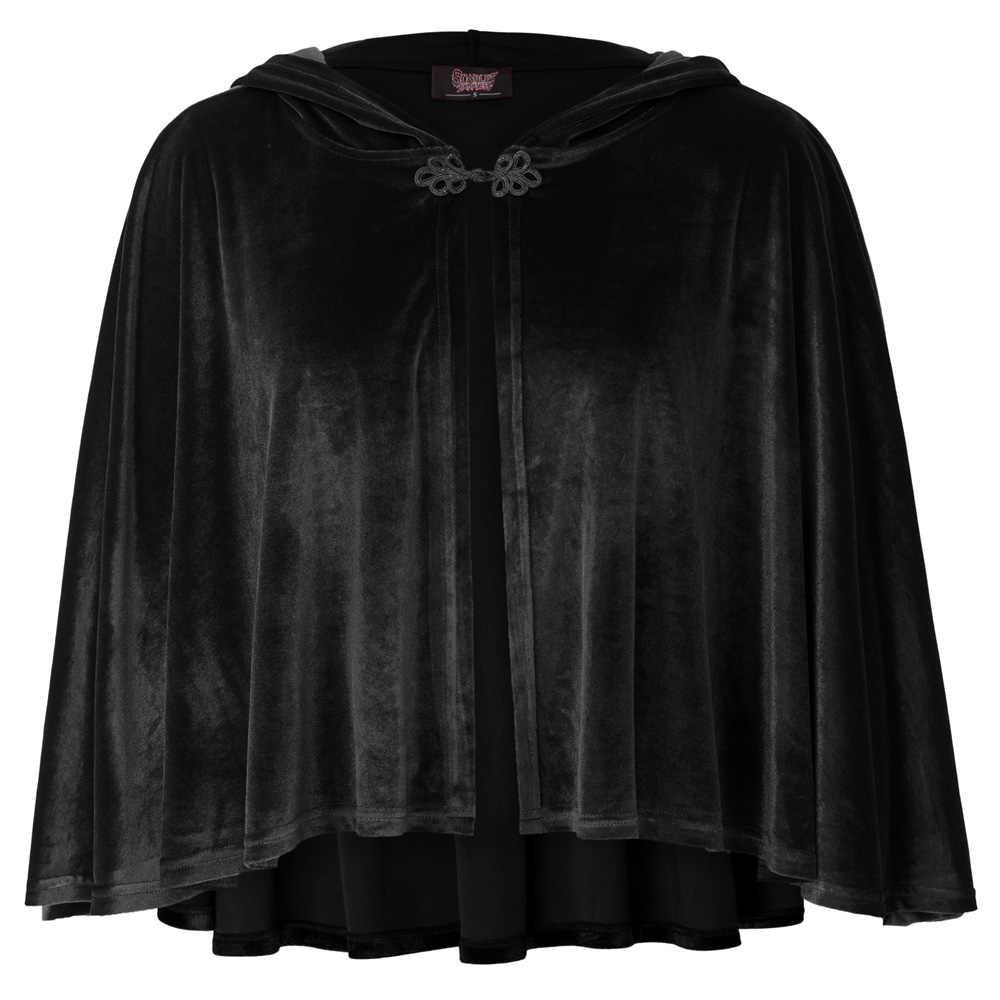 Викторианский Черный Бархатный Полуплащ-накидка в стиле стимпанк Диккенс Косплей