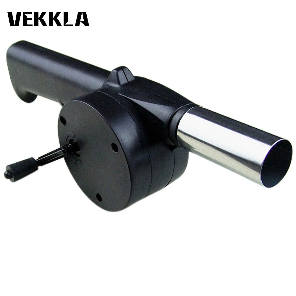 Outdoor Cooking Picnic Hand Crank Manual BBQ Barbecue Cooking Air Fan Fire Blower Ventilator Camping Electricity Accessories