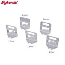 100pcs Tile Leveling System Clips Kit Wall Floor Spacer Tiling Tool 1mm 1.5mm 2mm 2.5mm 3mm Transparent Disposable PVC Base