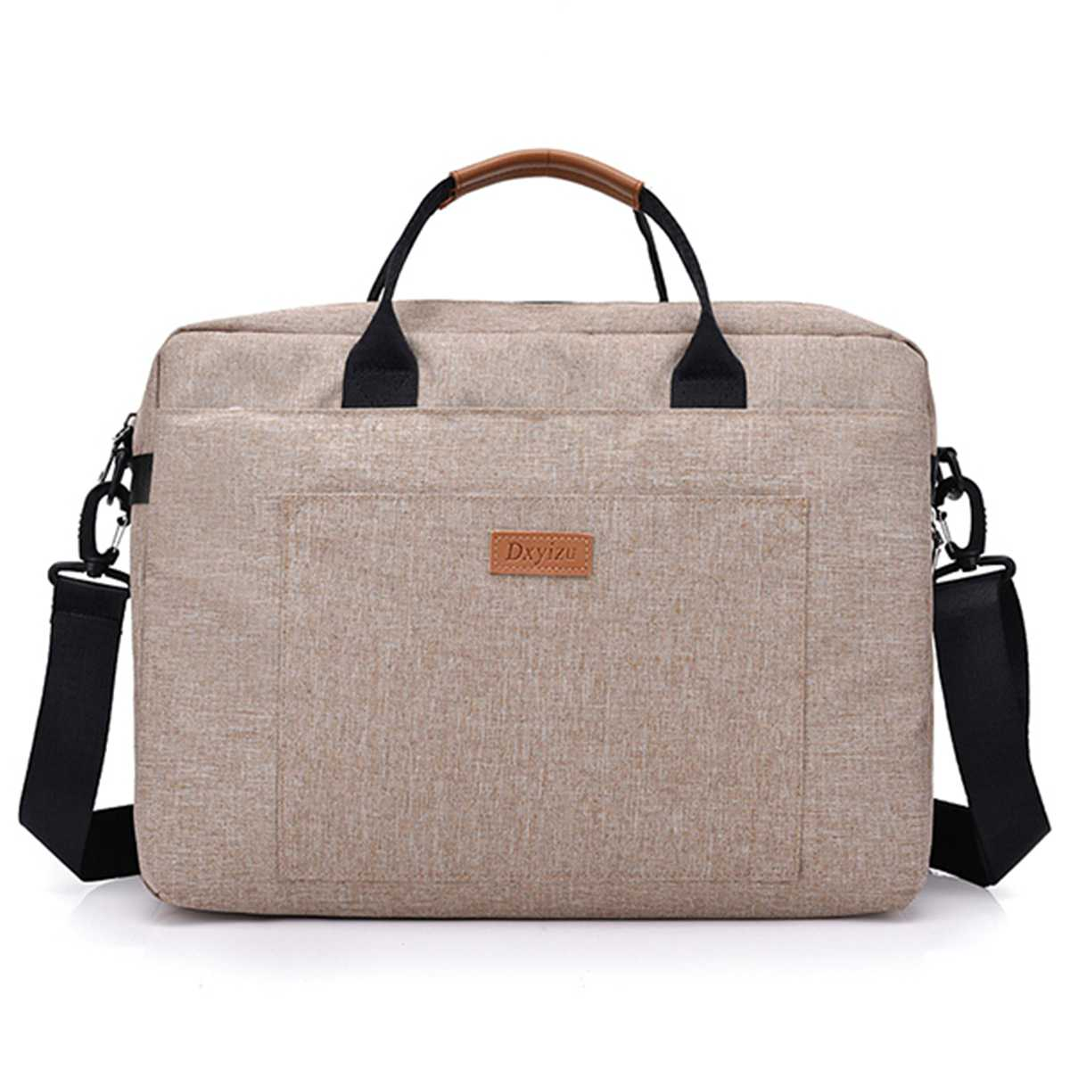 Casual Business Computer Bag Women Men Canvas Briefcase 16 Inch Laptop Shoulder Bag For Female Male Handbag Travel Large Tote