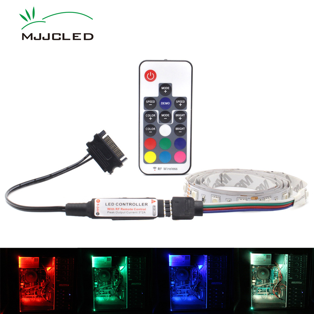 PC Housing LED RGB Strip Computer Case 5050 LED Stripes PC Case 12V SATA Interface Wireless Magnetic RGB Strip For Computer