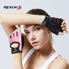 REXCHI Berufs Gym Fitness Handschuhe Power Gewicht Heben Frauen Männer Crossfit Workout Bodybuilding Halb Finger Hand Protector(China)
