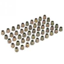 50Pcs/set M4 M5 M6 M8 Insert Nut Pre-embedded No Flange Cover Thorn Nuts Knob Screw Nut for Furniture Fastener Embedded Screws m4 aluminum alloy flange face preventable looseness self lock screw nut cap with embedded nylon circle 20pcs bag