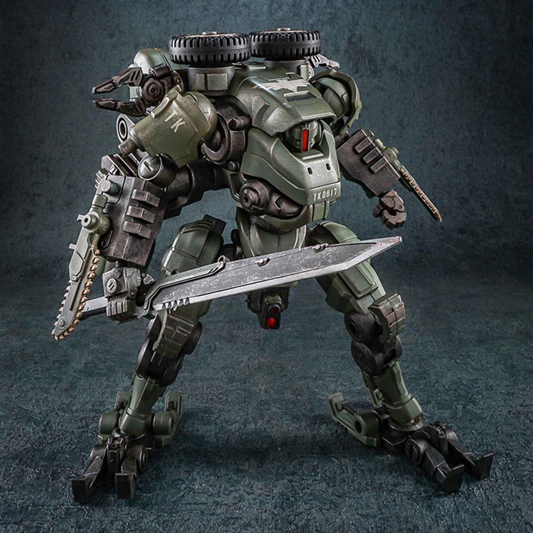 1/27 Scale Movable Assault Mecha Action Figure Tiekui DIY Collectable Handwork Mecha Model Birthday Present Gift for Mech Fans