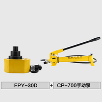 Hydraulic cylinder multi section jack FPY 30D hydraulic jack pump with CP 700 hydraulic pump
