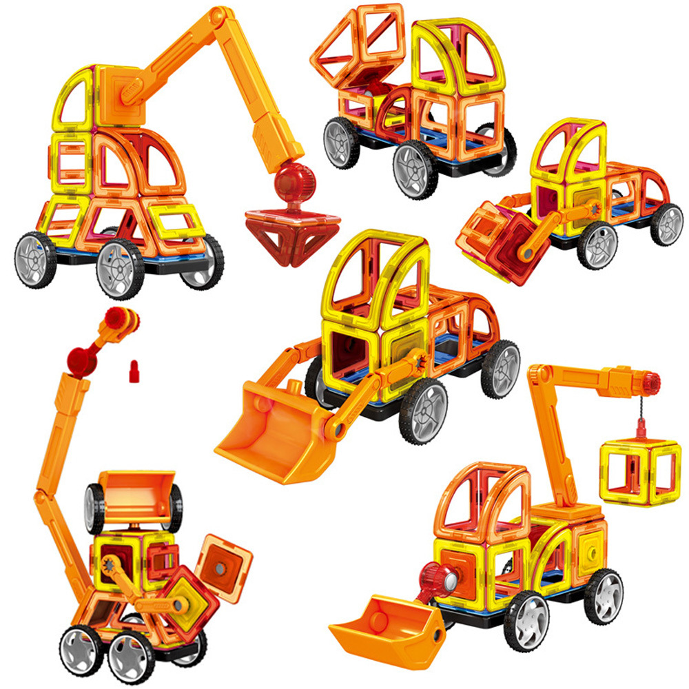 88 Pieces Big Size Construction Designer Magnetic Magnetic Building Blocks Educational Toy For Children Gift Set